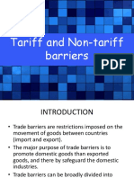 Tariff and Non-tariff Barriers-1