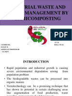 Industrial waste and sludge management by VERMICOMPOSTING