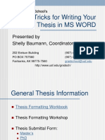 Tips & Tricks for Writing Your Thesis in MS WORD