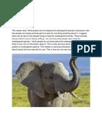 endangered species project part 2