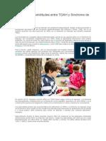 Diferenciación entre cuadros diagnósticos de t. de atencion y la actividad vs autismo