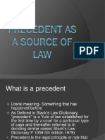 Precedent as a Source of Law Ppt