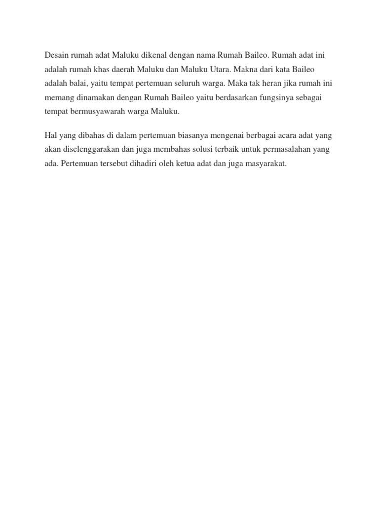77 Koleksi Gambar Sketsa Rumah Adat Maluku Gratis Terbaru