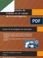 Oportunidades de Trabajo en El Campo de La Investigacion