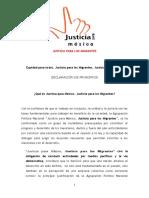 Declara Justicia Mexico Act