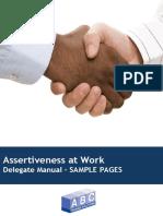 Sample Assertiveness at Work Manual