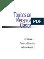 Tópicos de mecánica clásica. Principios elementales