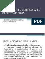 Adecuaciones Curriculares Decreto 83