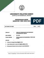 Gd3163 - POLICY & THEORY OF COMMERCE Perdagangan a Teori Dan Polisi