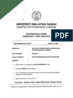 Gb3043 - INVESTMENT ANALYSIS ADMINISTRATION Pentadbiran Analisis Pelaburan