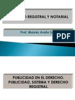 Derecho Registral Clase Inaugural 2018-1