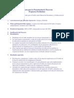Formato Para La Presentación de Proyectos Voluntaridado
