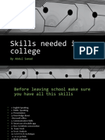 Skills Needed in College