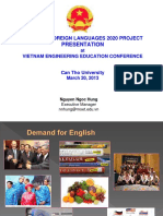 130319 20 NNH National Foreign Languages 2020 Project Presentation at Vietnam Engineering Education Conference Web