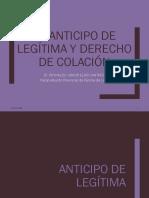 Anticipo de Legitima y Colación