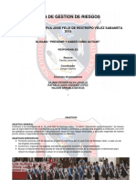 Reformulación de Proyecto de Gestión Del Riesgo Informe1