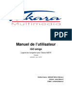 Tablettes Tactiles Multimédia, eBook Readers TAKARA - Manuel de navigation IGO Amigo - mid70_nav_fr.pdf