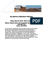 Dry Manure Calibration Field Day