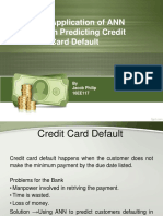 Application of ANN in Predicting Credit Card Default