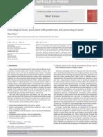 Problemas Toxicológicos Asociados a La Producción y Elaboración de Carne