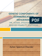 Genetic Components of Communication Impariment