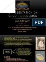 A Presentation on Group Discussion
