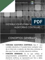 Semana 7 Distribuciones Para Variables Aleatorias Continuas