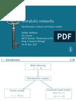 Metabolic Networks 1 Slides