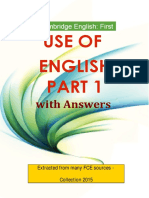 First Use of English Part 1 With Answers