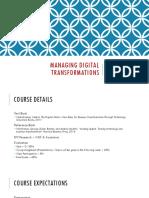 Managing Digital Transformations - 1