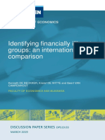 Identifying financially illiterate groups