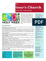 st saviours newsletter - 14 april 2019 palm sunday