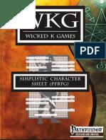 Simplistic Character Sheet