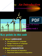 Lecture Linguistics - An Introduction