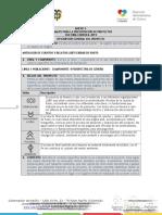 Anexo 3. Formato Para La Presentación de Proyectos 2019