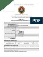 SILABO de Ingenieria de Telecomunicaciones UNSA - Introducción a la ingenieria