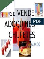 Se Vende Adoquines y Chupetes
