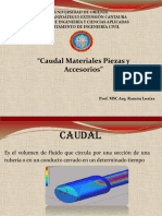 Caudal, Materiales, Piezas y Accesorios