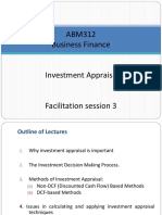 Facilitation Session 3 Investment Appraisal 1