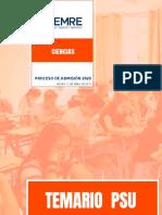 Temario PSU Ciencias