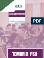 Temario PSU Lenguaje