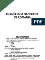 1 Transfuzia Sanguina in Romania