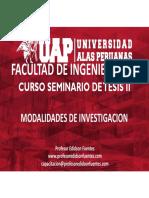 Sesion 06 Modalidad de La Investigacion