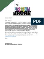 Copy of Copy of Parent Letter Passion Project
