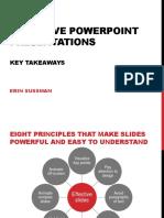 Effective Powerpoint Presentations Key Takeaways