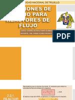 Ecuaciones de Diseño Para Reactores de Flujo