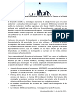 Documento de directores y directoras de institutos del Conicet