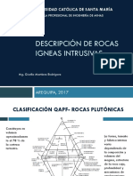 6 Descripción de Rocas Igneas Intrusivas