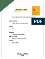 Facultad de Negocios Finanzas