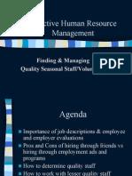 Effective HR Management